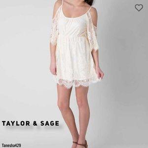 • Lace Cold Shoulder Dress •